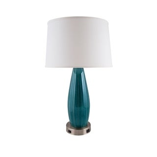 RiverCeramic® Stream Line Lamp with USB tropical turquoise
