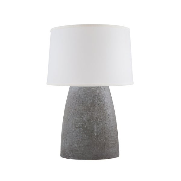 RiverCeramic® Burlap Lamp white washed grey