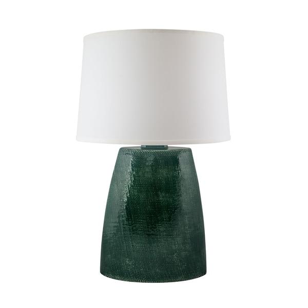 RiverCeramic® Burlap Lamp jade crackle