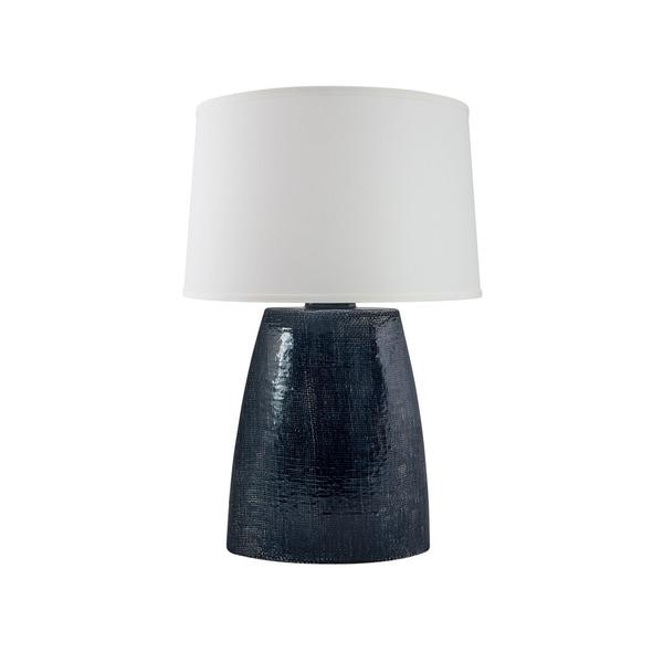RiverCeramic® Burlap Lamp midnight blue crackle
