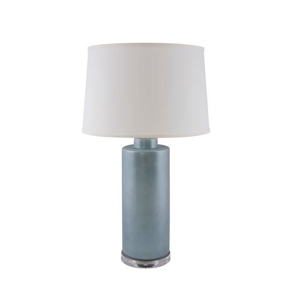 RiverCeramic® Cylinder lamp smoke blue pearl with Acrylic Base