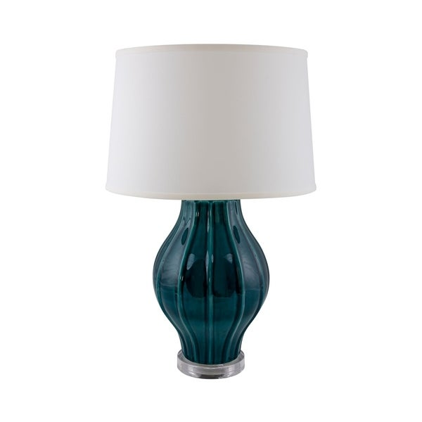 RiverCeramic® Large Fluted lamp with Acrylic Base