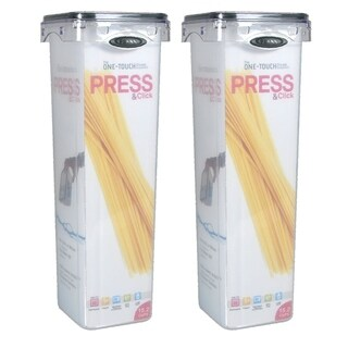Stor-All Solutions 6 Cup Press & Click Tall Square Canister- 2 Pack
