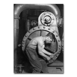 Benjamin Parker 'At Work' 40-inch x 60-inch Gallery-wrapped Giclee Wall Art