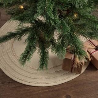 """Vintage Burlap Mini Tree Skirt - 21"""" diameter"""