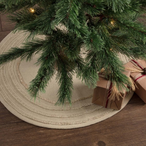 vintage burlap mini tree skirt 21 diameter - Burlap Christmas Decorations For Sale