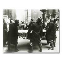 Benjamin Parker 'The Firemen' 40-inch x 60-inch Giclee Wall Art