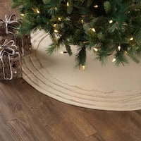 Vintage Burlap Tree Skirt