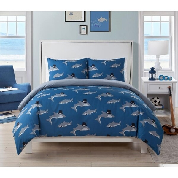 Shop Lala Bash Chomp Shark 2 Piece Or 3 Piece Comforter
