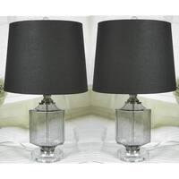 "JT Lighting ""Recali"" Smoke Glass Lamp Set of 2 - 23 inch"