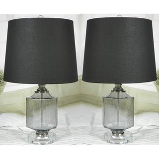 "JT Lighting ""Recali"" Smoke Glass Lamp Set of 2 - 23 inch"