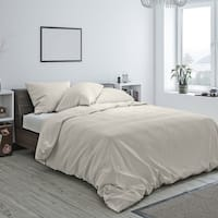American Colors Brand Heritage Cotton Duvet and Sham Set Ivory