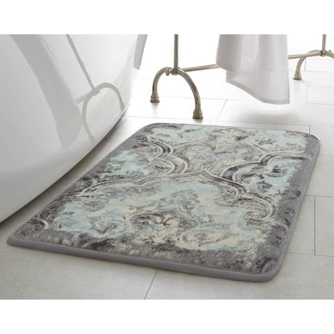 "Laura Ashley Daventry HD Printed Memory Foam 20"" x 34"" Accent Rug - 1'8 x 2'10"