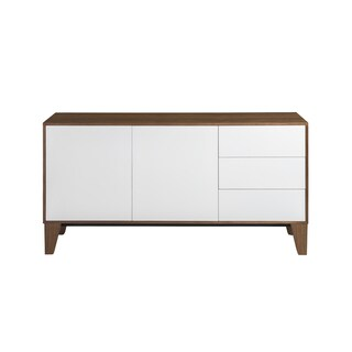 Esperanza Sideboard in American walnut and satin white lacquer