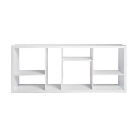 Reid Shelving and Media Stand in High Gloss White