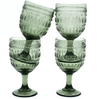 Euro Ceramica Fez 12-ounce Wine Goblets (Set of 4)
