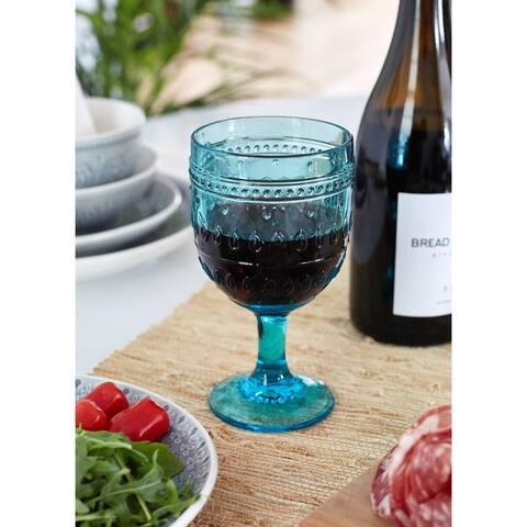 Euro Ceramica Fez 12-ounce Wine Goblets (Set of 4)