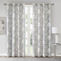 Madison Park Essentials Roxanne Floral Printed Foamback Curtain Panel Pair