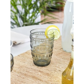 Link to Euro Ceramica Fez 14-ounce Highball Glasses (Set of 4) Similar Items in Glasses & Barware
