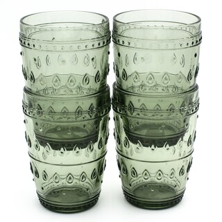 Euro Ceramica Fez 14-ounce Highball Glasses (Set of 4)
