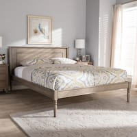 Contemporary Weathered Grey Finished Wood Bed Baxton Studio
