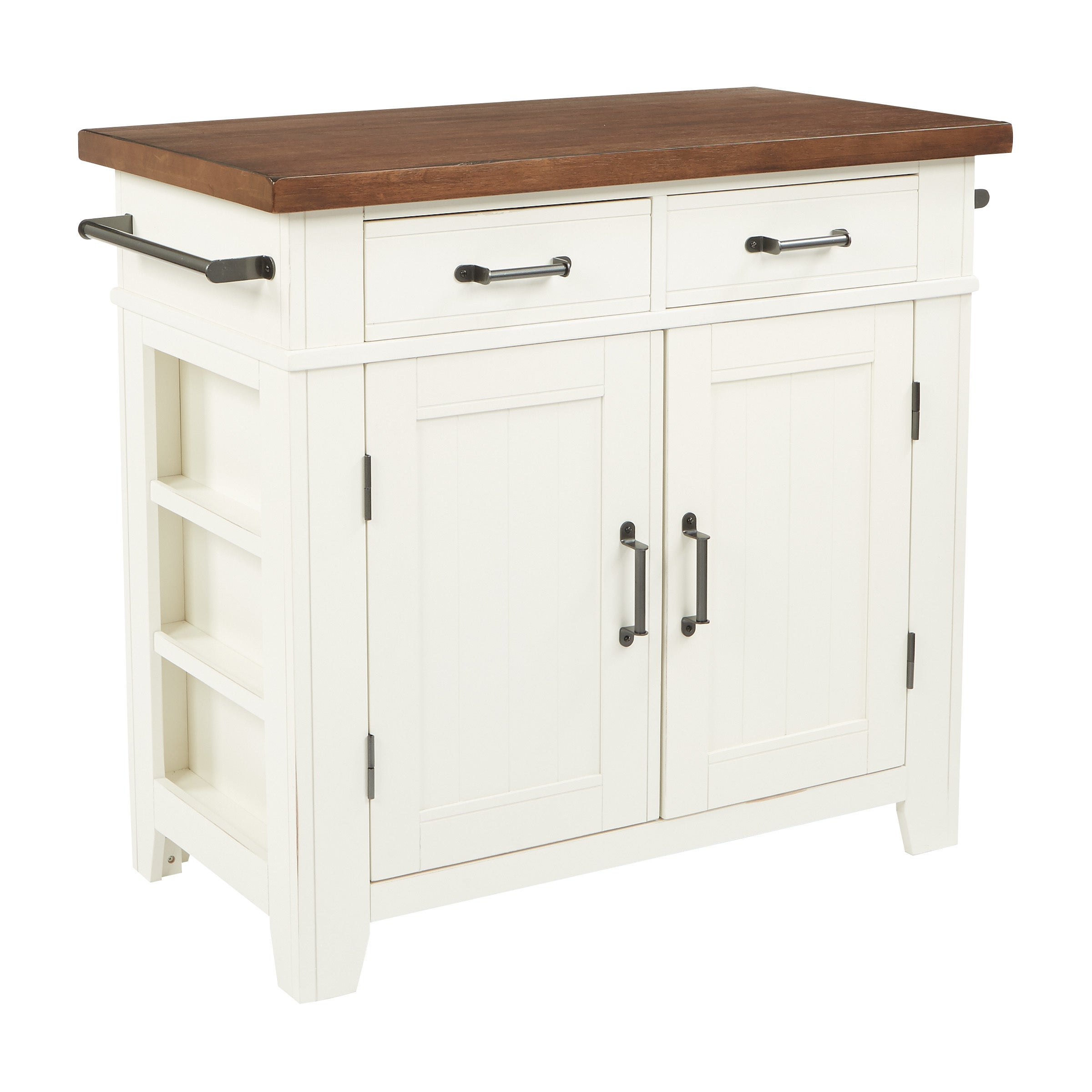 Shop The Curated Nomad LaPaglia Farmhouse Kitchen Island Free - Overstock kitchen island