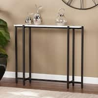 Harper Blvd Hedley Black w/ White Contemporary Narrow Console Table