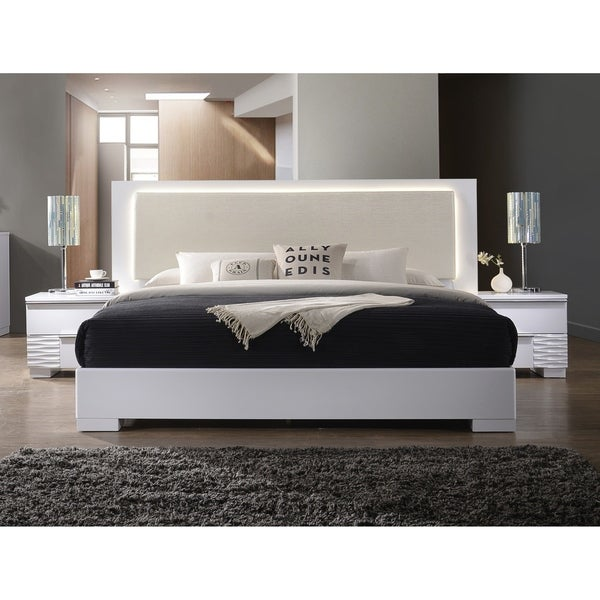 Shop Best Master Furniture Athens White With Led Lighting
