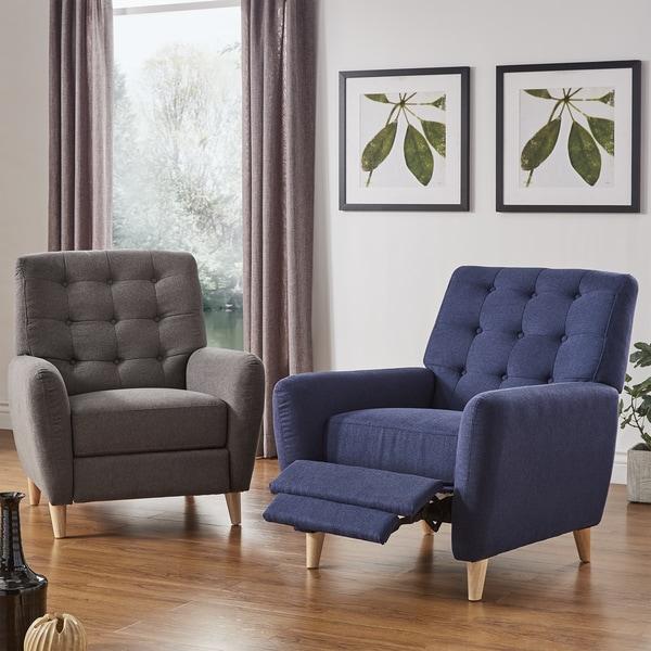 Tremendous Shop Niels Danish Modern Tufted Recliner Chair By Inspire Q Ibusinesslaw Wood Chair Design Ideas Ibusinesslaworg