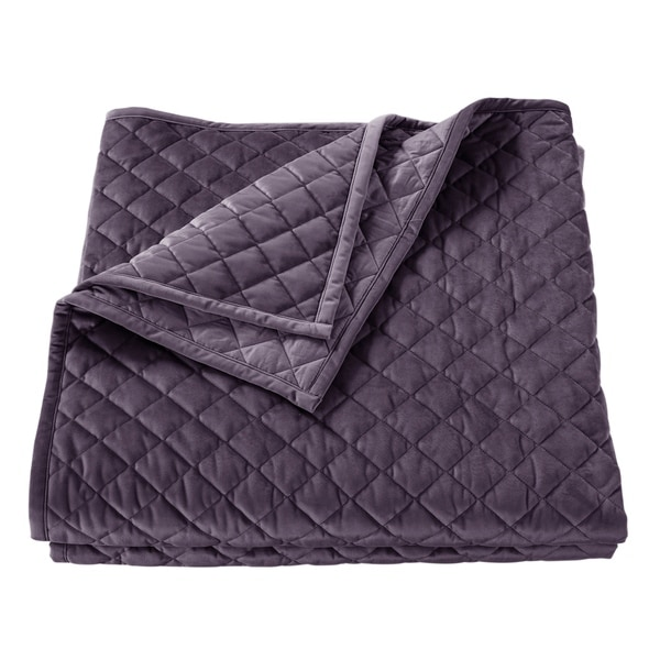 Shop Velvet Quilt King Amethyst Free Shipping Today