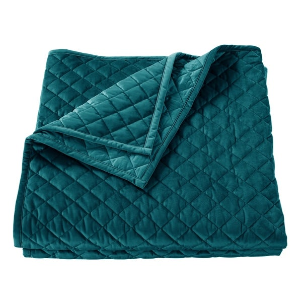 Shop Velvet Quilt King Teal Free Shipping Today 19507007