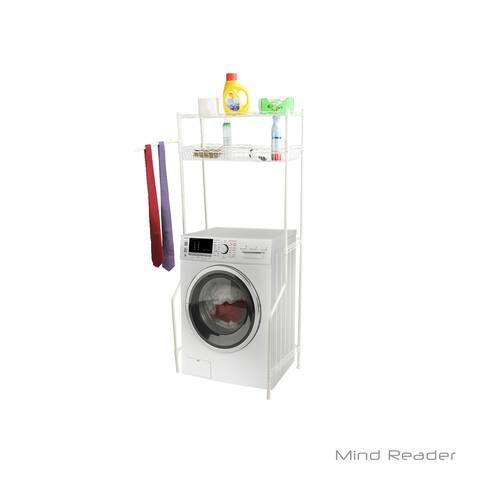 Mind Reader Laundry Utility Washing Machine Shelf and Rack, White
