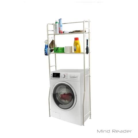 Mind Reader Laundry Utility Washing Machine Shelf, White