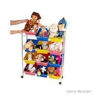 Mind Reader 12 Drawer Rolling Toy Organizer, Multi