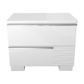 Best Master Furniture Athens White 2 Drawer Nightstand
