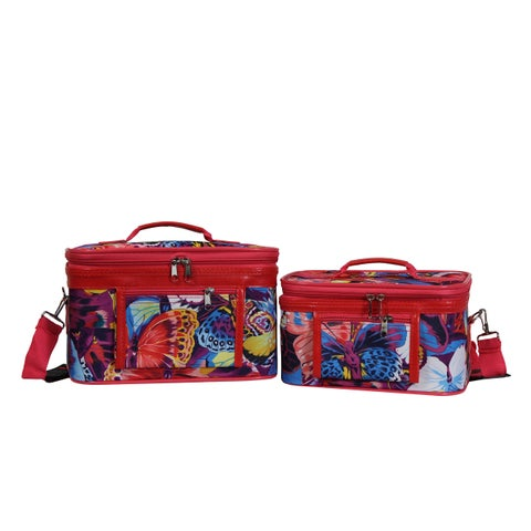 World Traveler Springfield Butterfly 2-Piece Train Cosmetic Case Set