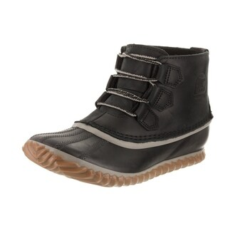 Sorel Women's Out N About Black Nubuck Leather Ankle Boots