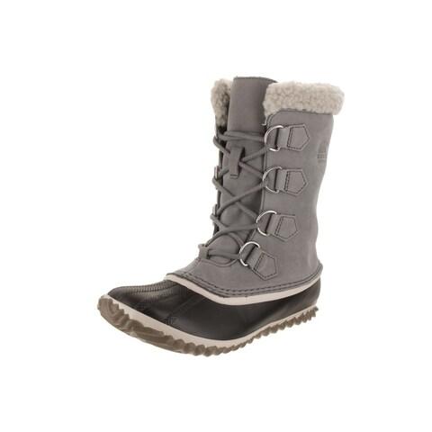 Sorel Women's Caribou Grey Nubuck Leather Slim Mid-calf Boots