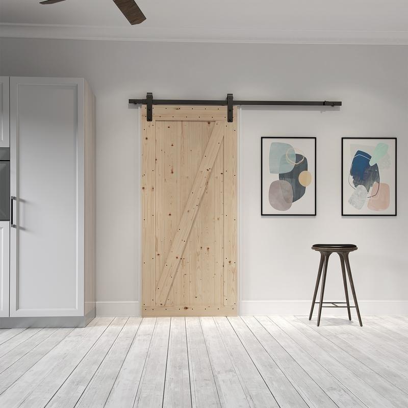 Merveilleux Farm Style Sliding Door, Unfinished With Sliding Door Hardware Kit