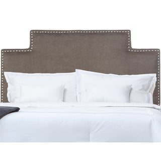 Handy Living Karlov Full/Queen Smoky Grey Upholstered Headboard
