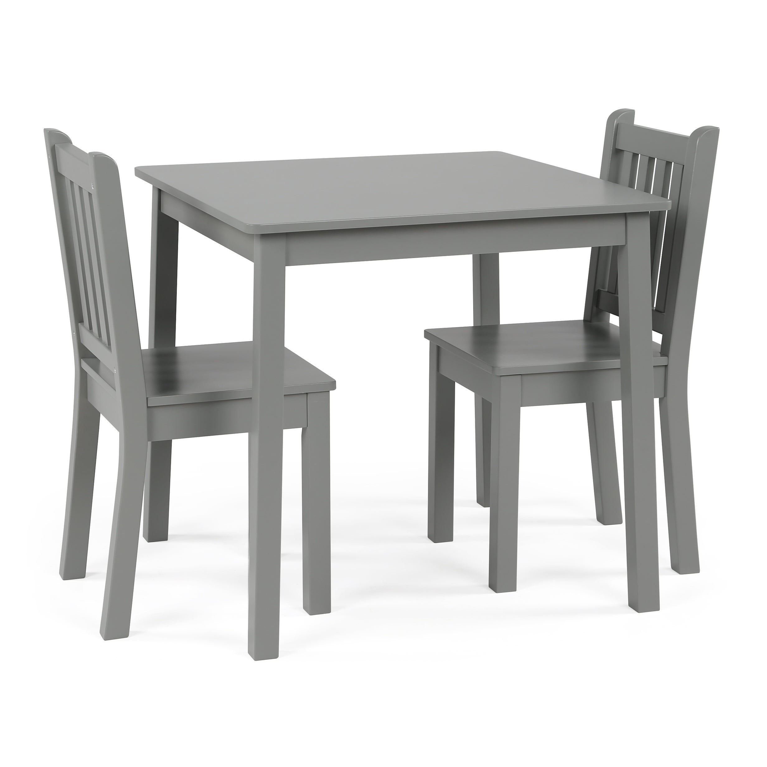 Shop Wood Kids Table Chairs 3 Piece Set Grey Overstock 19508685