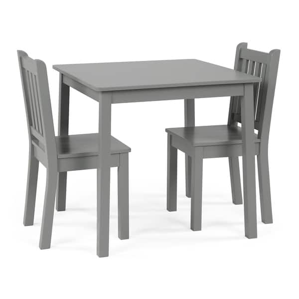 Astonishing Shop Wood Kids Table Chairs 3 Piece Set Grey Free Alphanode Cool Chair Designs And Ideas Alphanodeonline