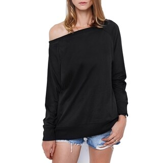 Cupshe Women's Solid Color Scoop Neck Basic Top Pullover Thin Sweatshirt