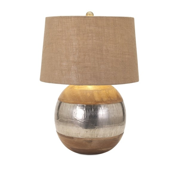 Alluring Wood and Metal Clad Lamp
