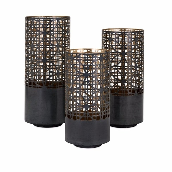 Enthralling Pierced Lanterns - Set Of 3