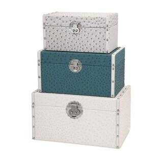 Vintage Storage Trunks - Set of 3 - White