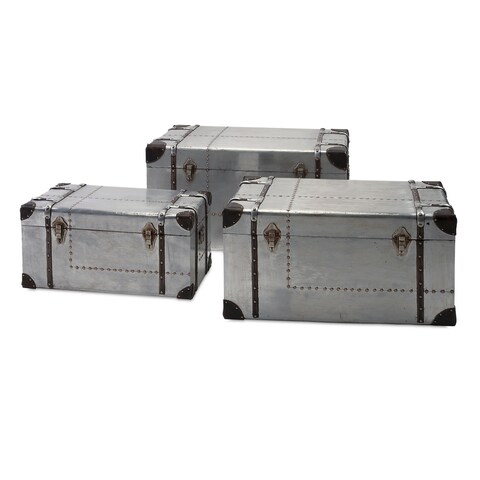 Brewer Aluminum Trunks - Set of 3 - gray