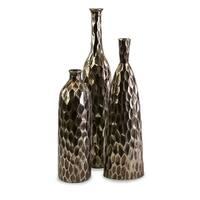 Antiqued  Ceramic Vases - Set of 3