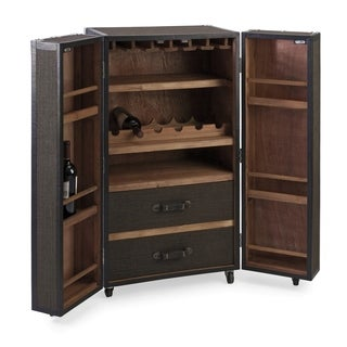 Conventional Rolling Wine Trunk - Black