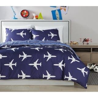 Lala Bash Fly Airplaine 2 Piece or 3 Piece Comforter Set